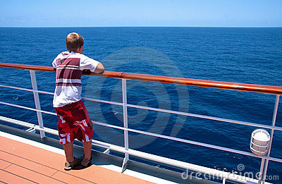 Boy on a cruise