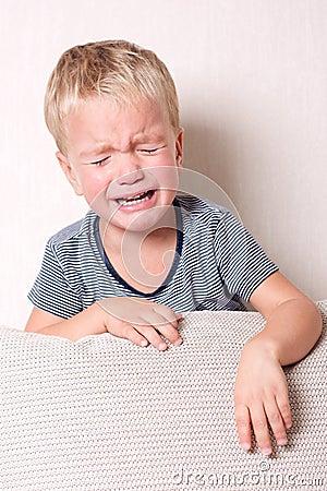 Free Boy Crying. Stock Images - 16437504