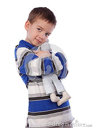 Free Boy Cuddle Toy, Isolation Royalty Free Stock Image - 18490446