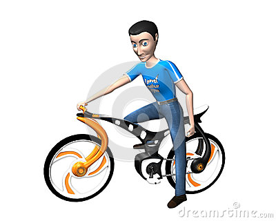 Boy with cycle