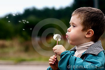 Boy with a dandelion