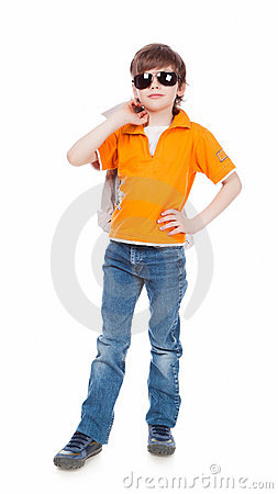 Boy in dark glasses