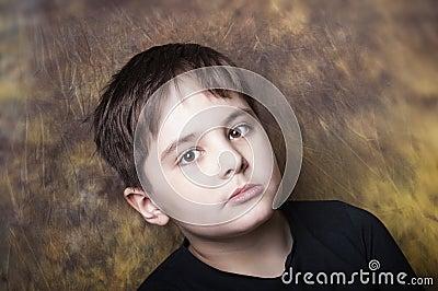 Boy with a distant gaze