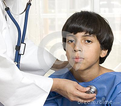 Boy at the doctor s office
