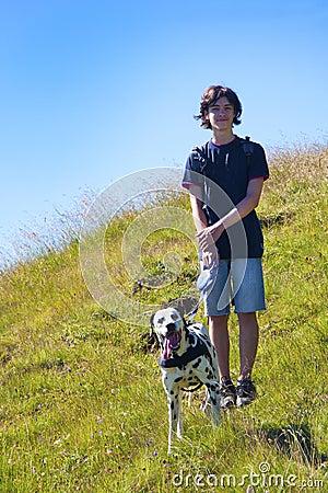 Boy with dog