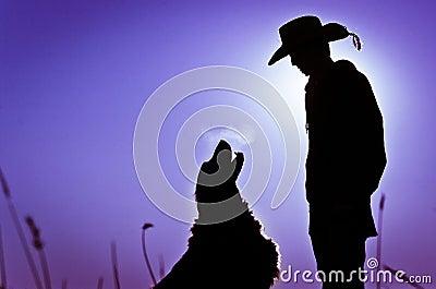 Boy & Dog Silhouette