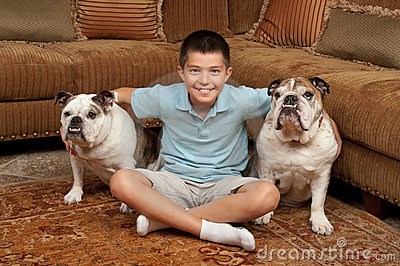 Boy and Dogs
