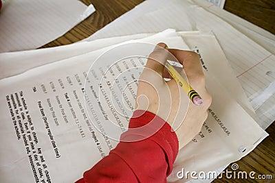 Boy Doing Math Homework