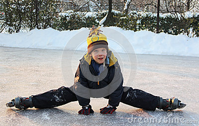 Boy doing the splits