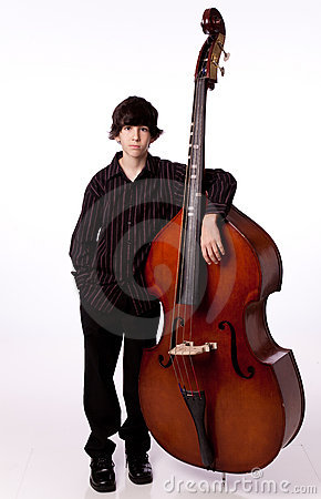 Boy with double bass