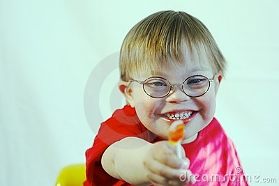 Boy with Downs Syndrome