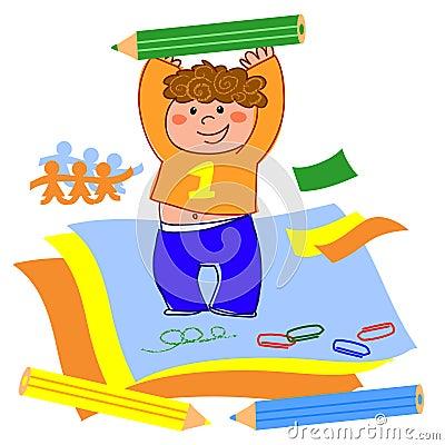 Boy drawing