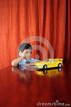 Boy with dream car