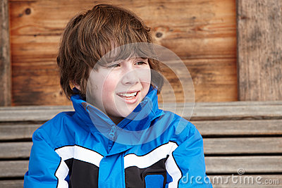 Boy Dressed For Cold Weather