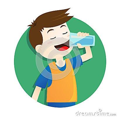 Free Boy Drinking Water Stock Photos - 43817183