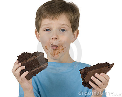 Boy Eating Cake Stock Photos - Image: 9248153