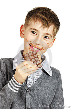 Boy Eating A chocolate