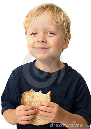 Free Boy Eating Sandwich Royalty Free Stock Photo - 2824545