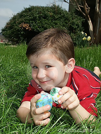 Boy with eggs 14