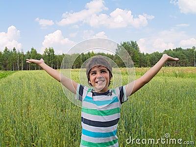 Boy enjoying summer