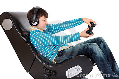 Boy in ergonomic chair