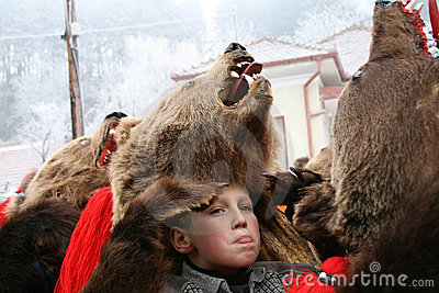 Boy expression at Bear dance parade Editorial Stock Image