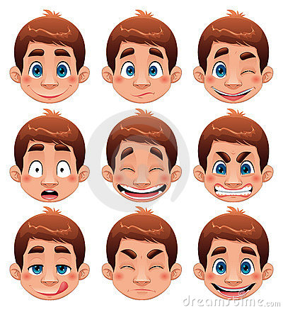 Free Boy Expressions. Stock Photo - 14852670