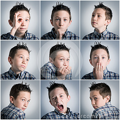 Free Boy Expressions Royalty Free Stock Photo - 24323585