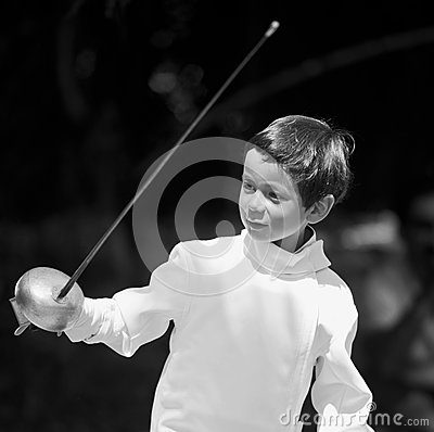 Boy Fencing