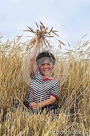 The boy on field