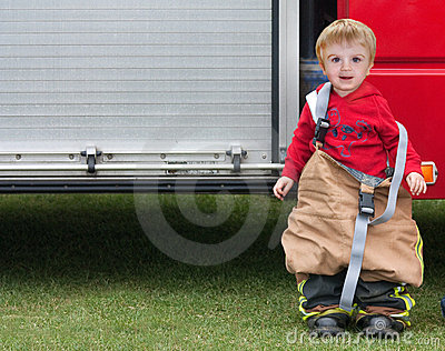 Boy fireman