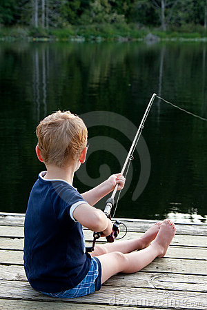 Free Boy Fishing Royalty Free Stock Images - 10115259