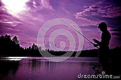 Boy fishing