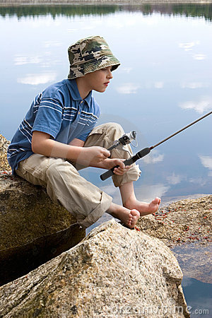 Free Boy Fishing Royalty Free Stock Images - 2333699