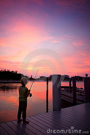 Free Boy Fishing Stock Image - 3067531