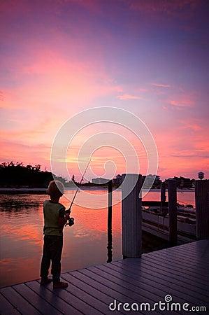 Free Boy Fishing Stock Image - 3067531