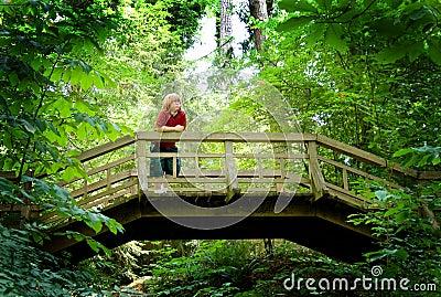Boy on a Footbridge