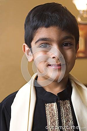Boy in formal Indian attire