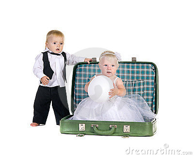 Boy and a girl going to travel
