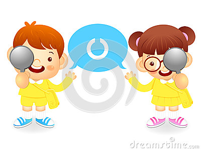 Boy and girl is have one s eyesight test. Education and life Cha