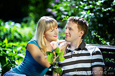 Boy And Girl On A Romantic Date Royalty Free Stock Photos - Image: 13446078