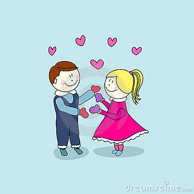 Boy and girl, valentine s day