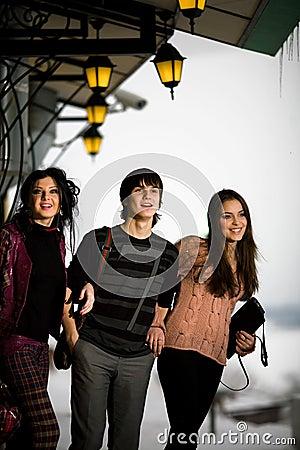 Boy with girlfriends