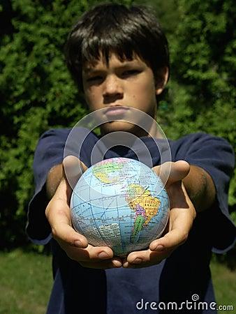 Boy and globe #2