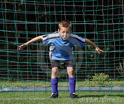 Boy goal keeper