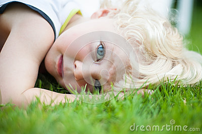 Boy on the grass