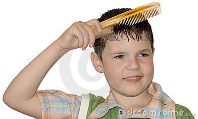 the boy hair combs hygiene stock images image 4926984