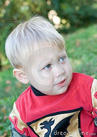 Boy at Halloween
