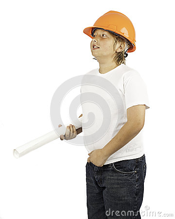 Boy in Hard hat