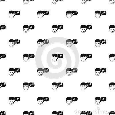 Boy head with speech bubble pattern vector Vector Illustration